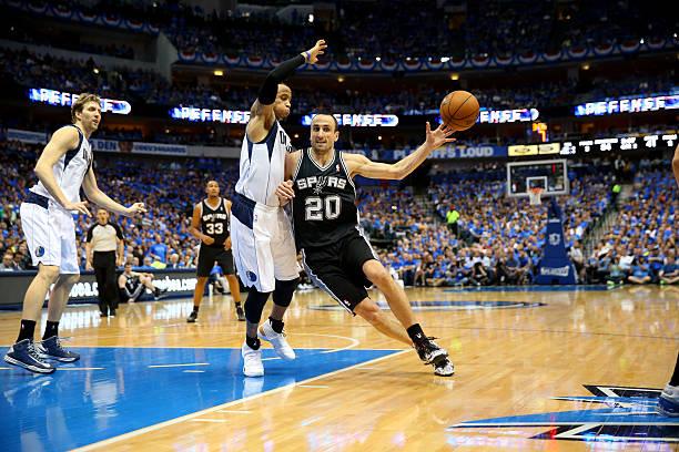 Manu Ginobili of the San Antonio Spurs. April '14.