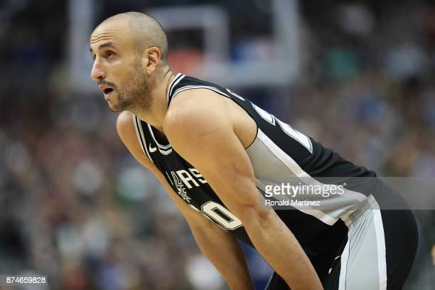 Manu Ginobili of the San Antonio Spurs in the second half at American Airlines Center on November 14 2017 in Dallas Texas NOTE TO USER User expressly...
