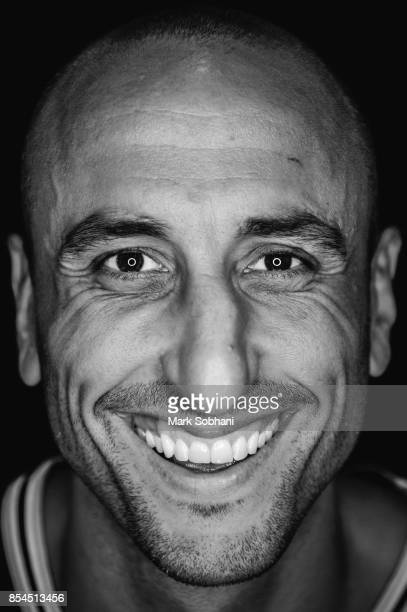 Manu Ginobili of the San Antonio Spurs poses for a head shot during media day in San Antonio Texas at ATT Center on September 25 2017 NOTE TO USER...