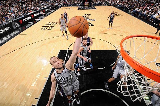 Manu Ginobili of the San Antonio Spurs vs. Grizzlies