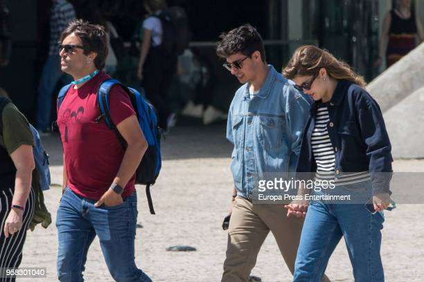 Manu Guix Amaia Romero and Alfred Garcia of Spain are seen one day before taking part at 2018 Eurovision Song Contest on May 11 2018 in Lisbon...