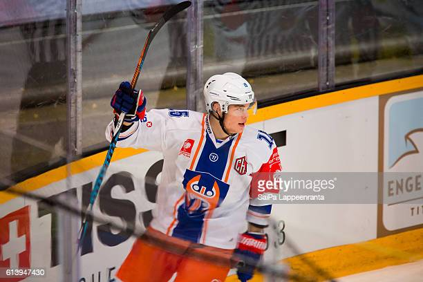 Manu Honkanen of Tampere during the Champions Hockey League Round of 32 match between SaiPa Lappeenranta and Tappara Tampere at Kisapuisto on October...