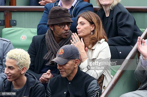 Manu Katche and his wife Laurence Katche attend day 11 of the 2016 French Open held at RolandGarros stadium on June 1 2016 in Paris France