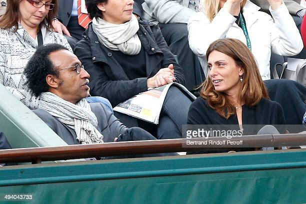 Manu Katche and his wife Laurence Katche attend the Roland Garros French Tennis Open 2014 Day 3 on May 27 2014 in Paris France