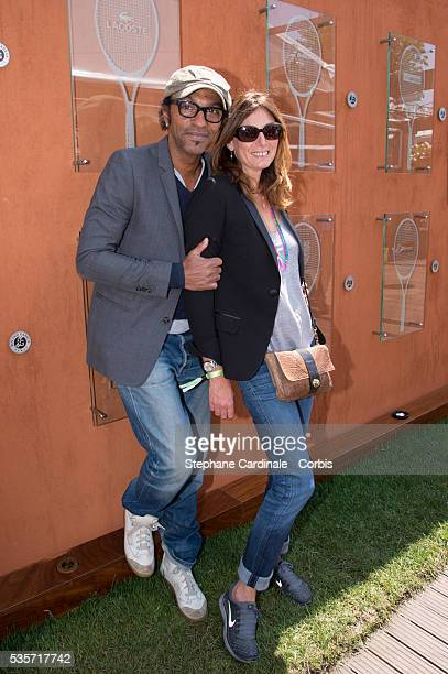 Manu Katche and Laurence Katche attend Roland Garros Tennis French Open 2013