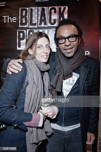 Manu Katche and Laurence Katche attend 'The Black Powe Mixtape' Premiere at MK2 Beaubourg on November 15 2011 in Paris France