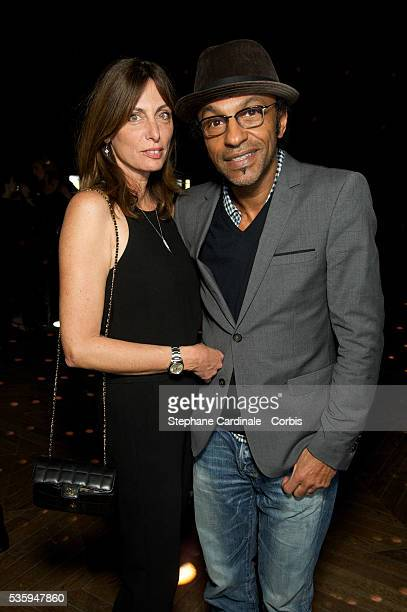 Manu Katche and Laurence Katche attend the Karl Lagerfeld New Perfume launch party at Palais Brongniart in Paris