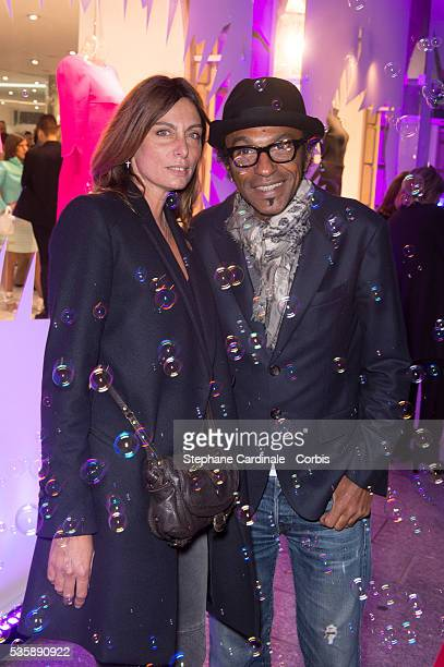 Manu Katche and Laurence Katche attend the Vendanges Montaigne 2013 at Courreges in Paris