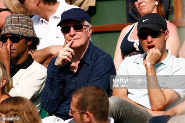 Manu KATCHE Andre DUSSOLIER Pierre Olivier FOGIEL FInale Roland Garros 2007 Rafael NADAL / Roger FEDERER Jour 15