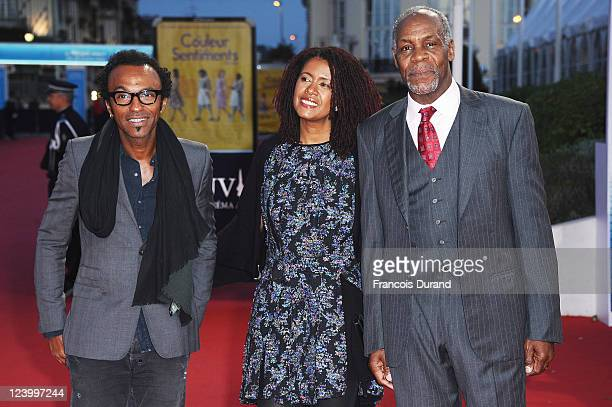 Manu Katche Danny Glover and Asake Bomani arrive for 'The Conspirator' premiere during the 37th Deauville American Film Festival on September 7 2011...