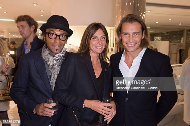 Manu Katche Laurence Katche and Frederic Torloting attend the Vendanges Montaigne 2013 at Courreges in Paris