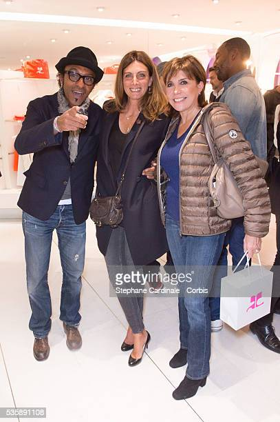 Manu Katche Laurence Katche and Liane Foly attend the Vendanges Montaigne 2013 at Courreges in Paris