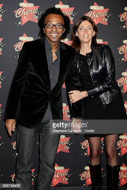 Manu Katche with his wife Laurence arrive at Les Etoiles de Cherie FM awards held in Paris