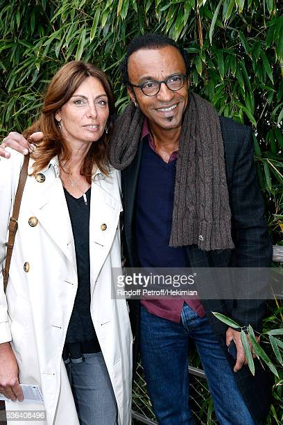 Manu Katche with his wife Laurence attend Day Eleven of the 2016 French Tennis Open at Roland Garros on June 1 2016 in Paris France