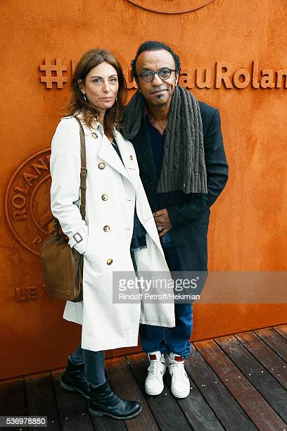 Manu Katche with his wife Laurence attend the French Tennis Open at Roland Garros on June 1 2016 in Paris France