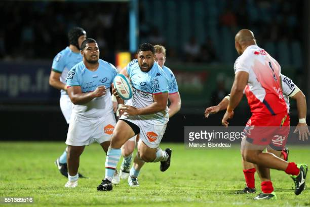 Manu Leiataua of Bayonne during the French Pro D2 match between Aviron Bayonnais and Grenoble on September 21 2017 in Bayonne France