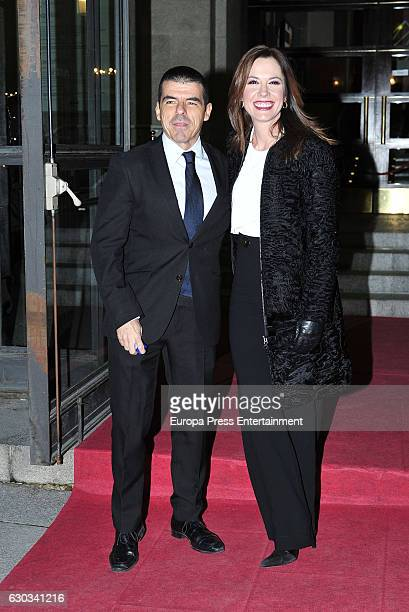 Manu Marlasca and Mamen Mendizabal attend the ATRESMEDIA Christmast Dinner on December 20 2016 in Madrid Spain