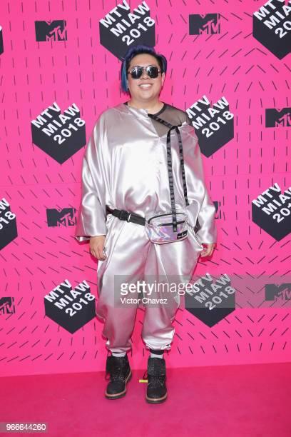 Manu NNa attends the MTV MIAW Awards 2018 at Arena Ciudad de Mexico on June 2 2018 in Mexico City Mexico