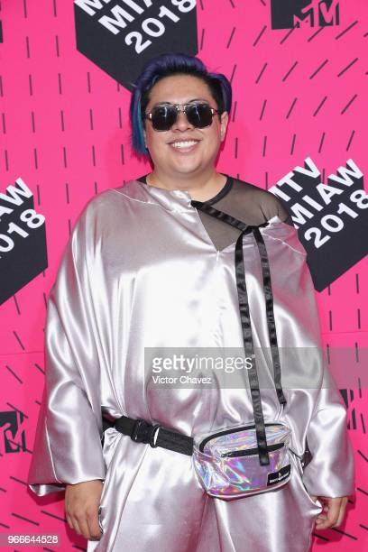 Manu NNa attends the MTV MIAW Awards 2018 at Arena Ciudad de Mexico on June 2 2018 in Mexico City Mexico