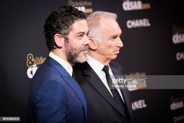 Manu Payet and Alain Terzian attend the 'Cesar Revelations 2018' party at Le Petit Palais on January 15 2018 in Paris France