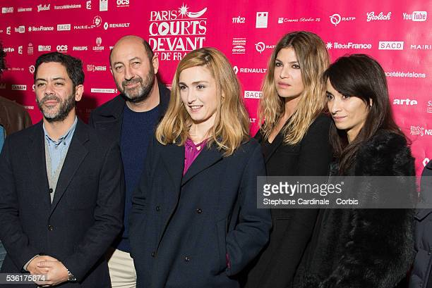 Manu Payet Kad Merad Julie Gayet Isabelle Funaro and Rachida Brakni attend the Paris International Short Films Festival on December 12 at Cinema des...