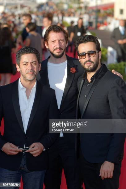 Manu Payet Monsieur Poulpe Jonathan Cohen attend red carpet of 3rd day of the 31st Cabourg Film Festival on June 16 2017 in Cabourg France