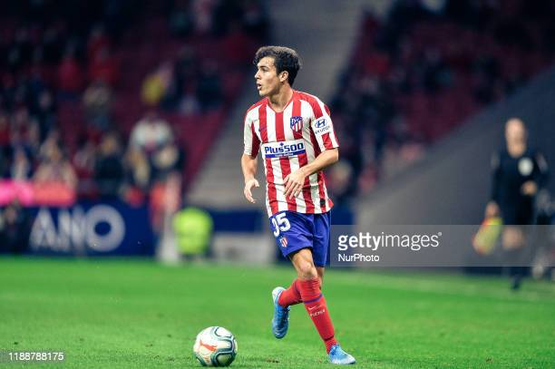 Manu Sanchez during La Liga match between Club Atletico de Madrid and CA Osasuna at Wanda Metropolitano on December 14, 2019 in Madrid, Spain .