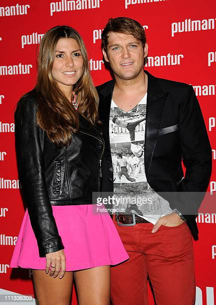 Manu Tenorio and Silvia Casas attend the launch of 'Viajes Ocio Placer' Pullmantur's Magazine at Oui on March 31 2011 in Madrid Spain