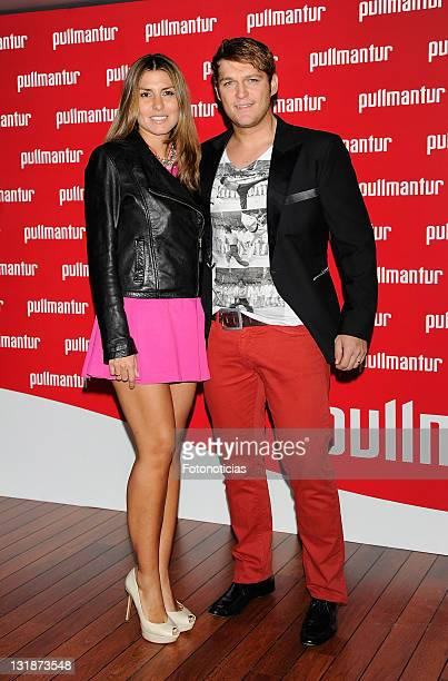 Manu Tenorio and Silvia Casas attends the launch of 'Viajes Ocio Placer' Pullmantur's Magazine at Oui on March 31 2011 in Madrid Spain
