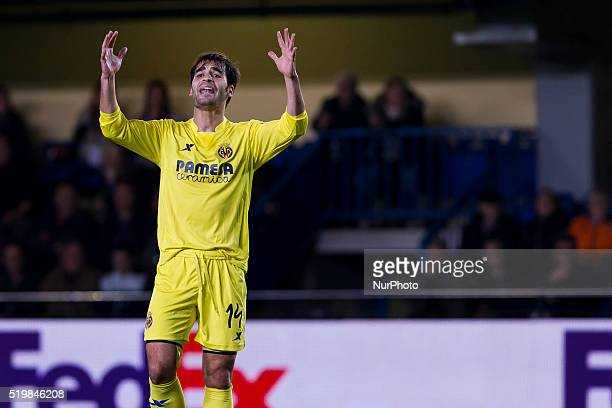 14 Manu Trigueros del Villarreal CF during UEFA Europa League quarterfinals first leg match between Villarreal CF v Sparta Prague at El Madrigal...