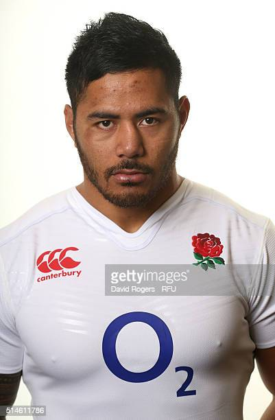 Manu Tuilagi of England poses for a portrait at Pennyhill Park on March 10 2016 in Bagshot England