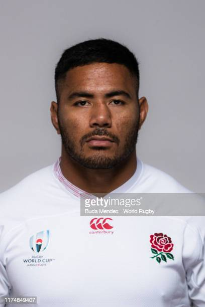 Manu Tuilagi of England poses for a portrait during the England Rugby World Cup 2019 squad photo call on September 15 2019 in Miyazaki Japan
