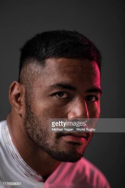 Manu Tuilagi of England poses for a portrait during the England Rugby World Cup 2019 squad photo call on September 15, 2019 in Miyazaki, Japan.