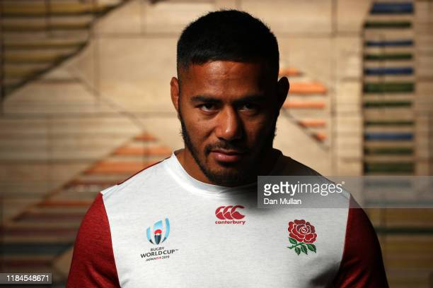 Manu Tuilagi of England poses for a portrait following a press conference on October 31 2019 in Tokyo Japan