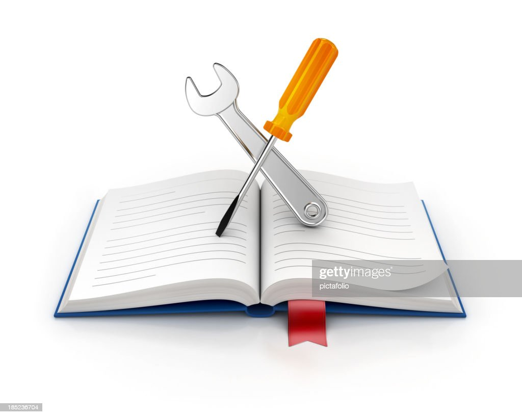 manual book help icon : Stock Photo