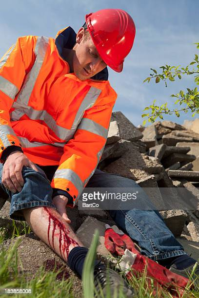 Manual worker falling on the job. Accidents can happen.
