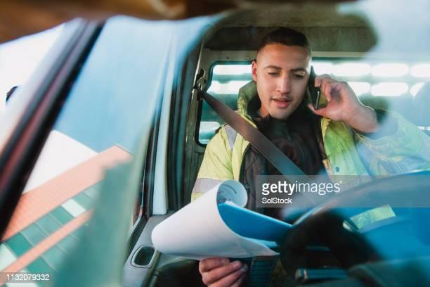 Manual Worker in his Van