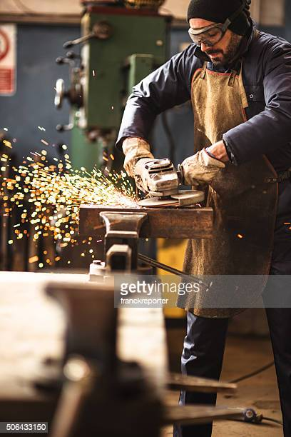 manual worker on a workshop - foundation make up stock pictures, royalty-free photos & images