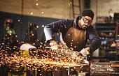 manual worker on a workshop