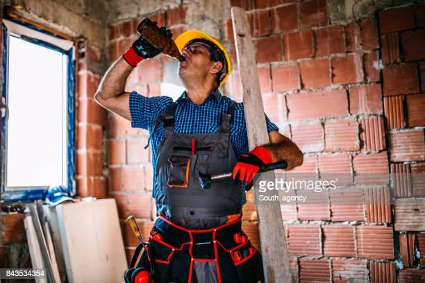 Manual worker on break