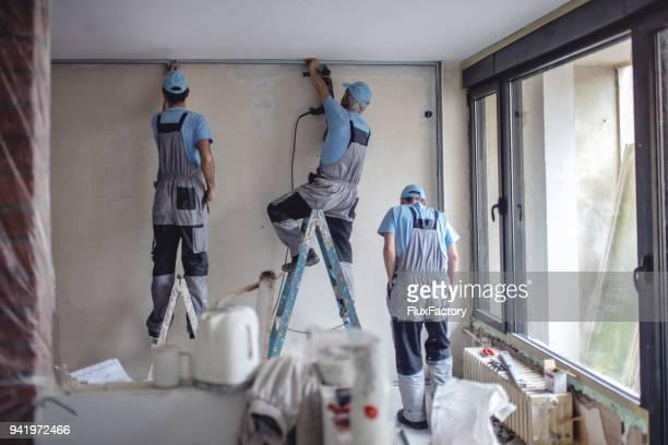 Arbeiter, Bau für den Trockenbau