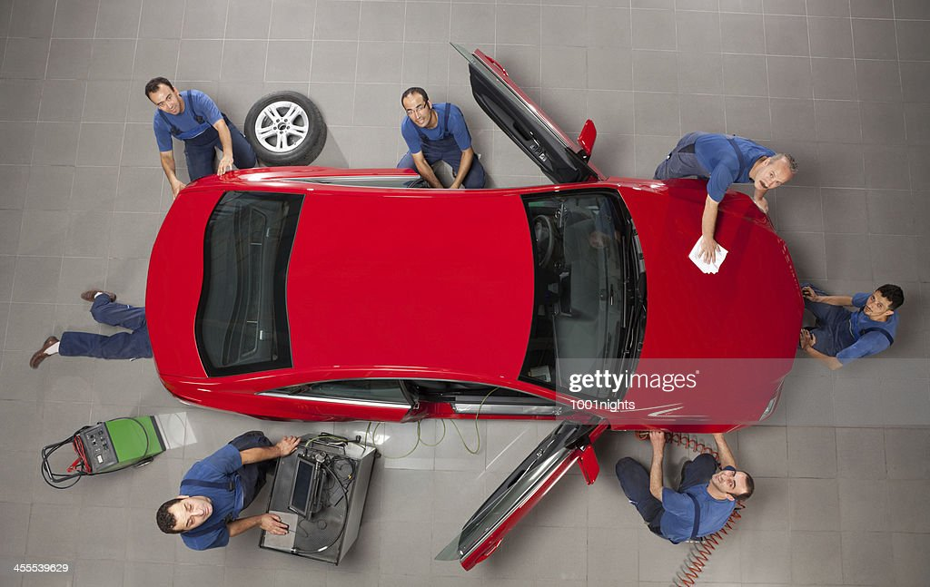 Manual workers working : Stock Photo