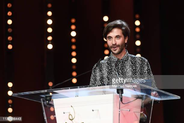Manuel Abramovich receives the Silver Bear Jury Prize for 'Blue Boy' at the closing ceremony of the 69th Berlinale International Film Festival Berlin...