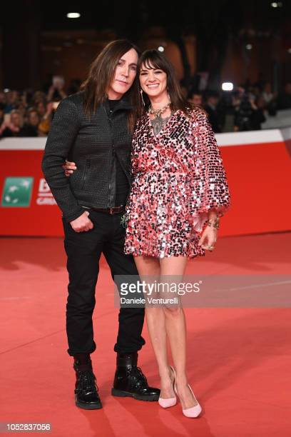 Manuel Agnelli and Asia Argento walk the red carpet ahead of the 'Noi Siamo Afterhours' screening during the 13th Rome Film Fest at Auditorium Parco...