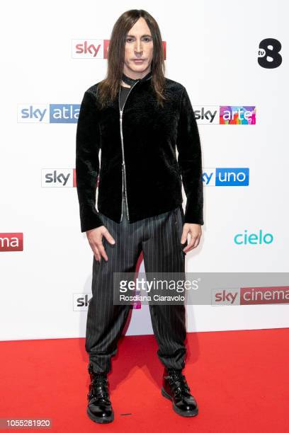 Manuel Agnelli attends the Sky Show Schedule Presentation at Palazzo Del Ghiaccio on October 29 2018 in Milan Italy