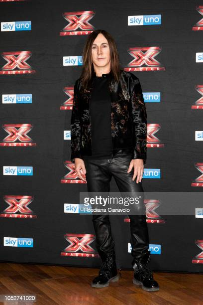 Manuel Agnelli attends X Factor 2018 photocall at Teatro Linear Ciak on October 22 2018 in Milan Italy