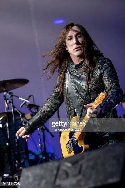 Manuel Agnelli of Afterhours performs on stage at Mediolanum Forum on April 10 2018 in Milan Italy