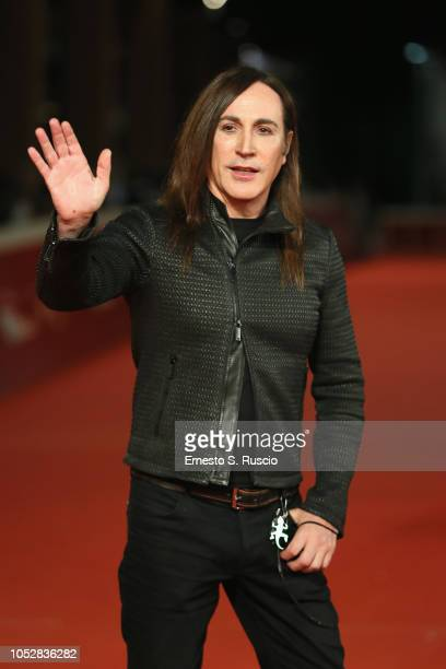 Manuel Agnelli walks the red carpet ahead of the Noi Siamo Afterhours screening during the 13th Rome Film Fest at Auditorium Parco Della Musica on...