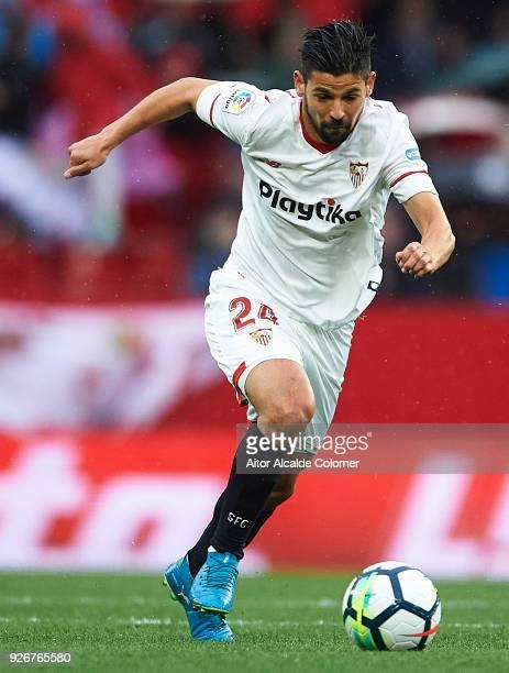 Manuel Agudo 'Nolito' of Sevilla FC in action during the La Liga match between Sevilla and Athletic Club at Estadio Ramon Sanchez Pizjuan on March 3...