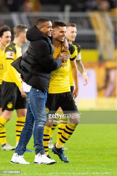 Manuel Akanji of Borussia Dortmund and Julian Weigl of Borussia Dortmund looks on during the Bundesliga match between Borussia Dortmund and Borussia...
